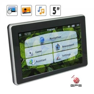 800 x 480 Resolution 5 Inch HD Touchscreen GPS Navigation and Multimedia Unit